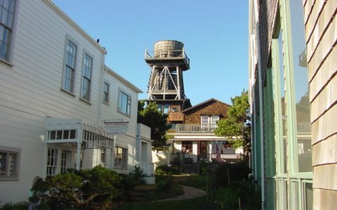 Fort Bragg shopping and water tower